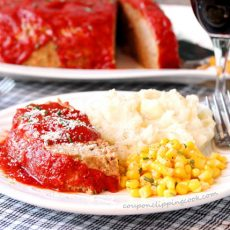 Meatloaf with Seasoned Tomato Sauce