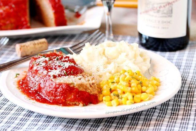 Sliced Meat Loaf on Plate