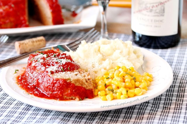 Sliced Meatloaf Dinner on Plate