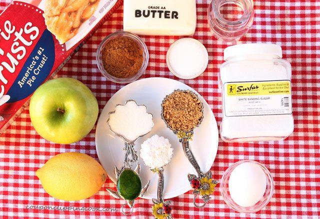 Heart Shaped Apple Pie Galette ingredients