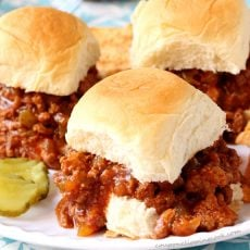 Crockpot Sloppy Joe Sliders
