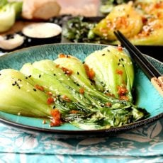 Ginger and Garlic Baby Bok Choy