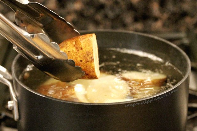 Add potatoes to boiling water in pot