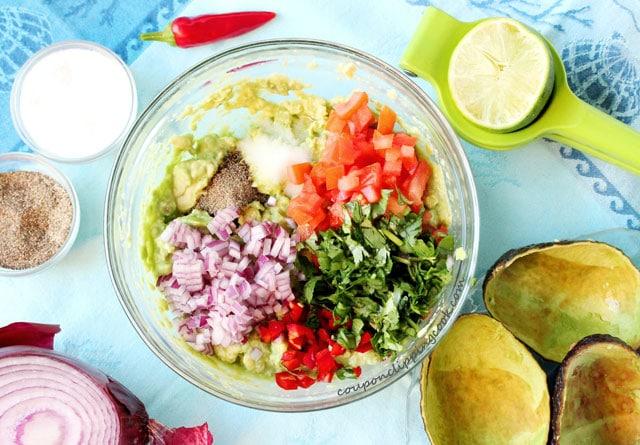 Chipotle Shrimp Guacamole ingredients