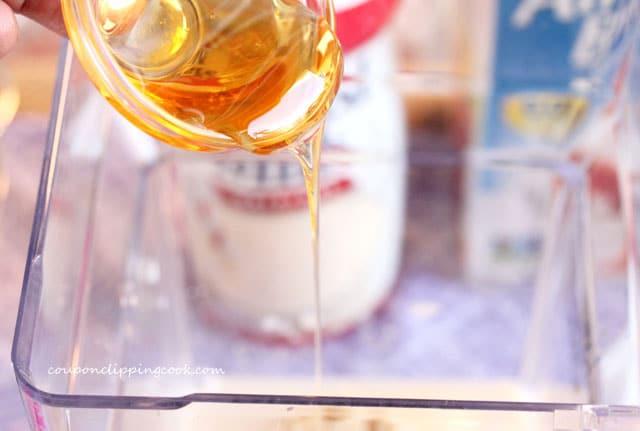 Add honey to blender jar