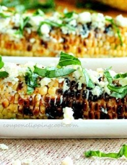 Grilled Corn Basil Gorgonzola
