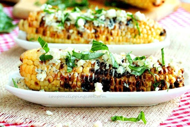 Grilled Corn Basil Gorgonzola