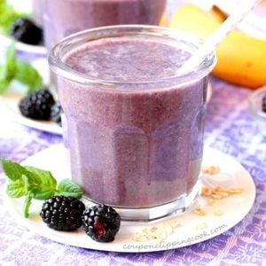 Blackberry Oatmeal Smoothie