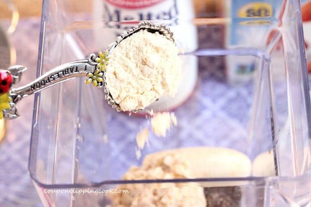 Add malted milk to blender jar
