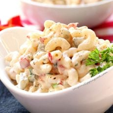 Elbow macaroni salad