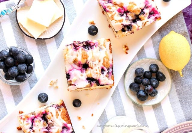Blueberry Streusel Cake on plate