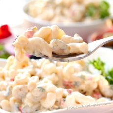 Macaroni Salad on Fork
