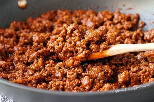 enchilada sauce taco meat