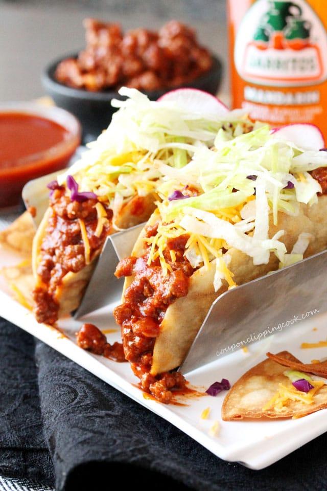 One-Skillet Enchilada Sauce Taco Meat Filling