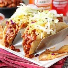Enchilada Taco Meat Tacos