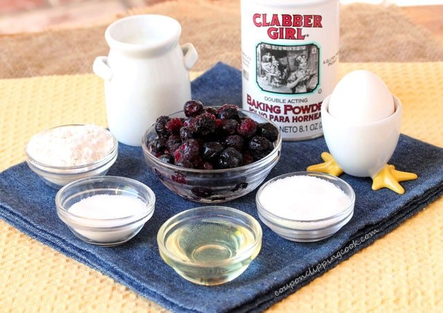 Blueberry Coffee Cake ingredients