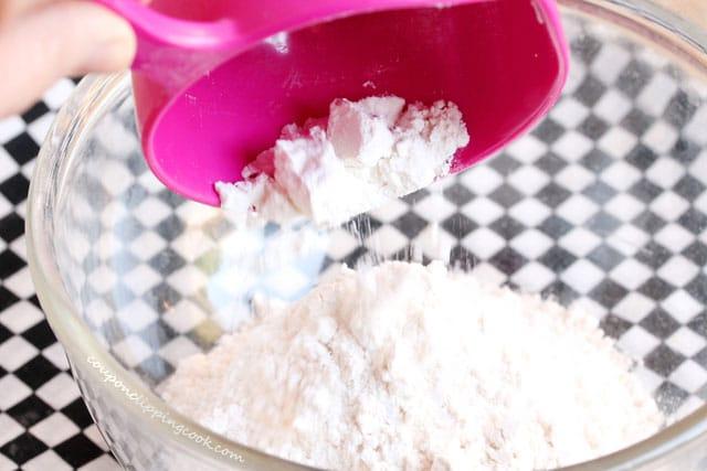 Add flour in bowl