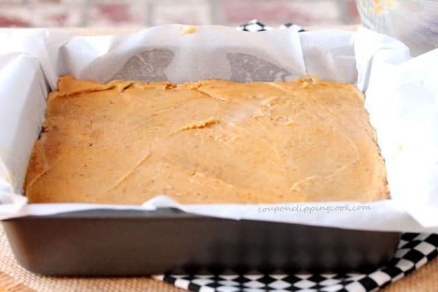 Biscoff Blondie Batter in Pan