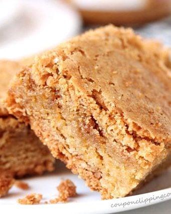Biscoff Cookie Butter Blondie Brownie Recipe