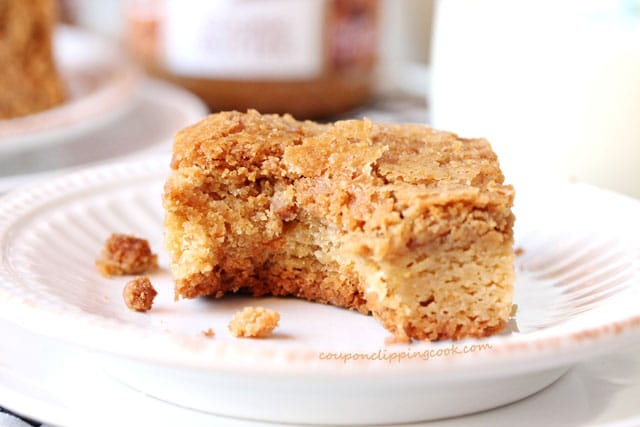 Biscoff Cookie Butter Blondie on plate