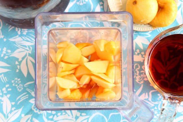 Peach Sun Tea Agua Fresca