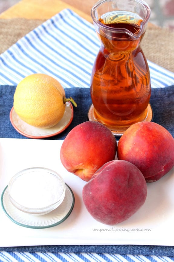 Peach and Tea Agua Fresca ingredients