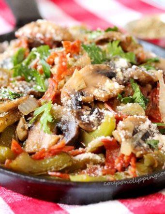 Sautéed Mushrooms, Pepperoni & Bell Peppers