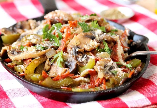 Mushrooms, Pepperoni, Bell Peppers