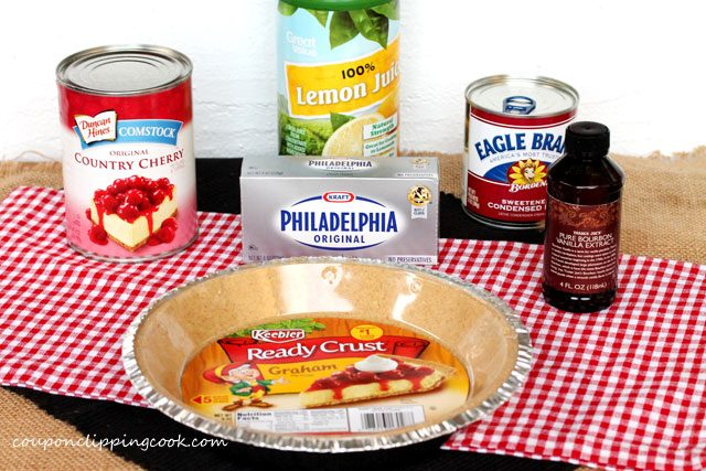 Cherry Cheese Pie Ingredients