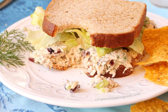 Tuna Cranberry Salad Sandwich