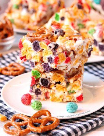 Captain Crunch and Pretzel Marshmallow Krispie Treats
