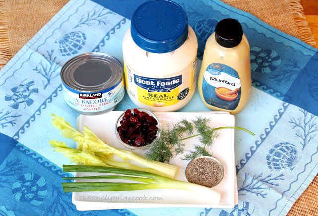 Tuna Cranberry Salad Ingredients