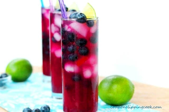 Blueberry Limeade in glasses