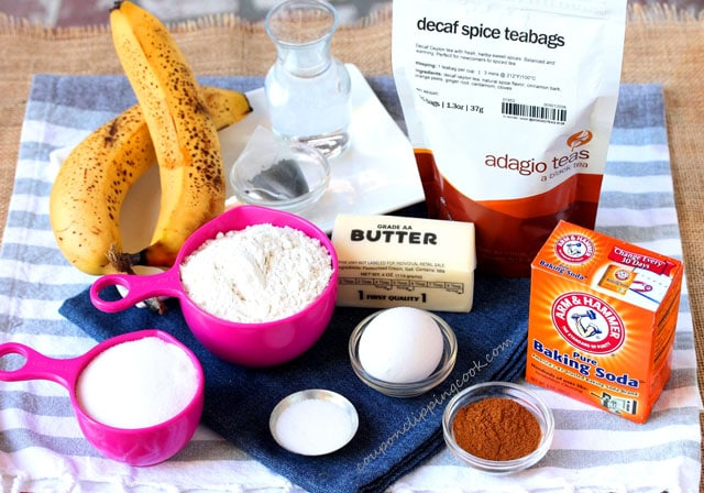 Spice Tea Banana Bread ingredients