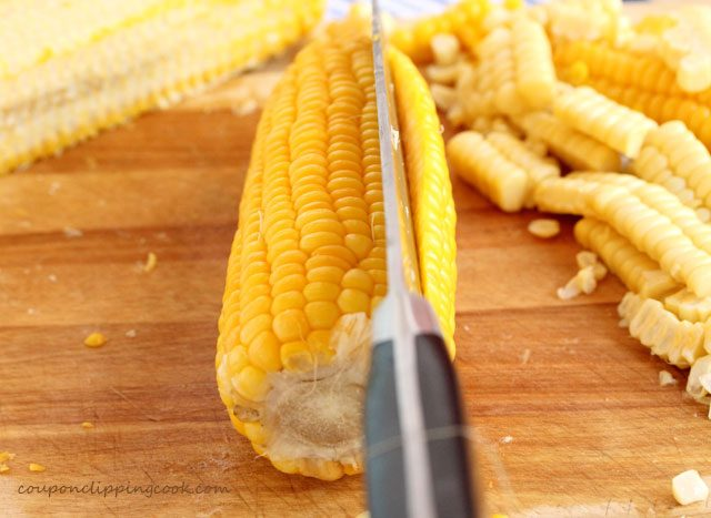 Cut corn off the cob