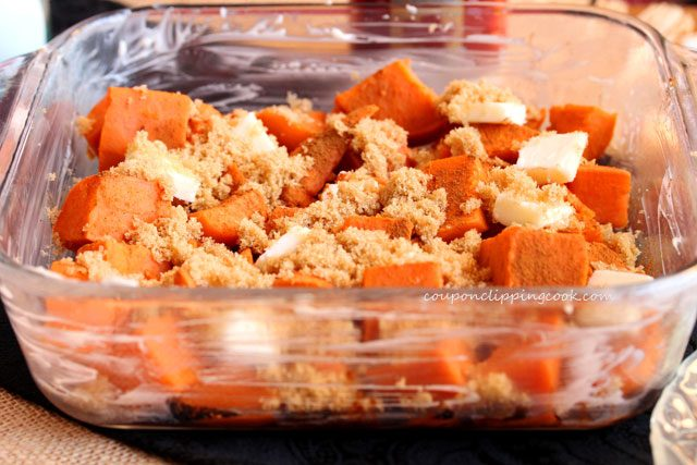Candied yam ingredients