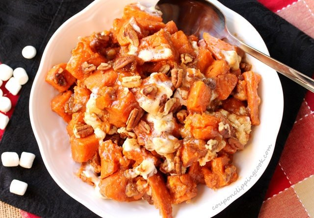 Candied Yams with Pecans and Marshmallows