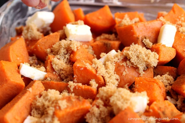 Add brown sugar on yams