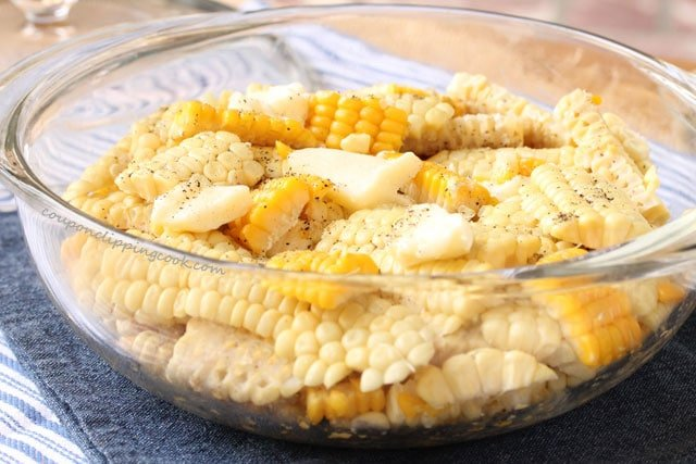 Corn off the cob in bowl