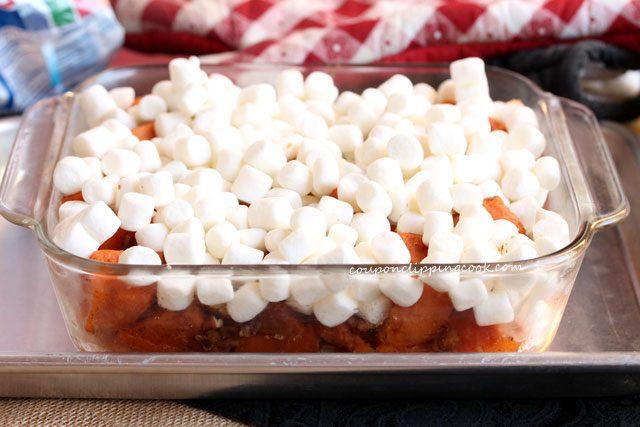 Marshmallows on yams