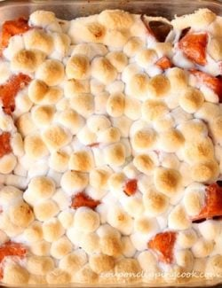 Baked yams with marshmallows