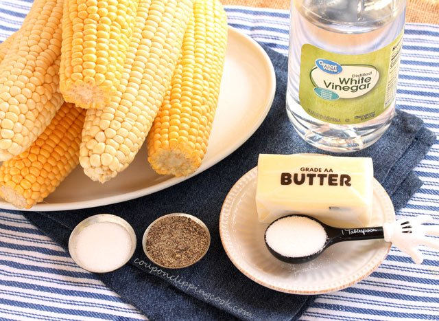 Buttered Corn off the Cob ingredients