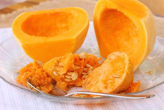 Cut Butternut Squash on plate