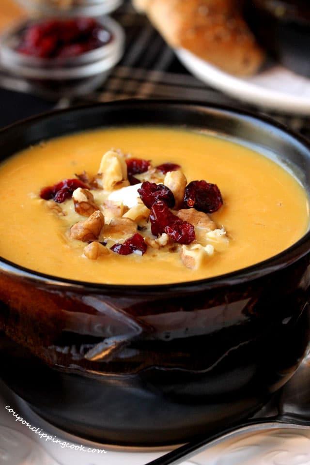Butternut Squash Soup in Bowl