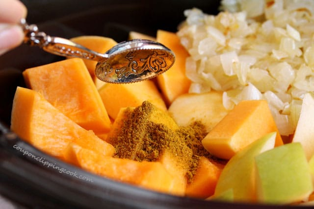 Add curry in squash soup