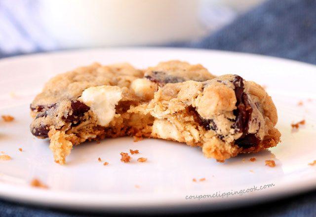 Bite of tart cherry oatmeal cookie