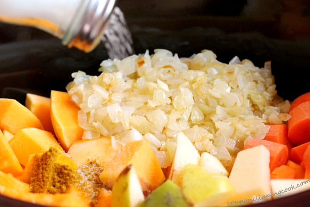 Add salt in squash soup