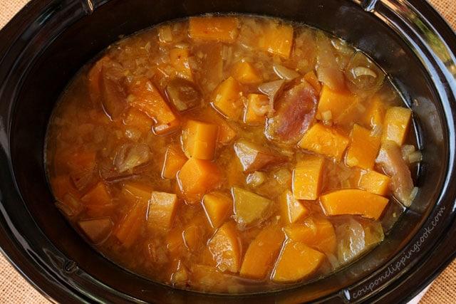 Squash soup in crockpot