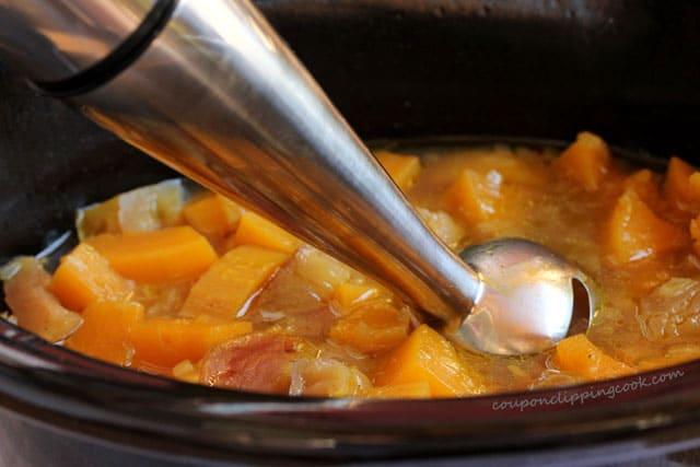Immersion blender in soup