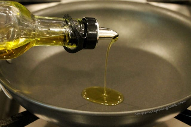 Add olive oil to pan